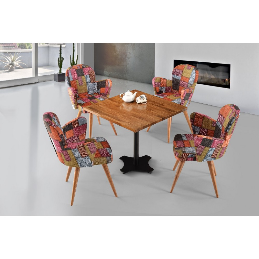 Natura Square Table Defne Chair