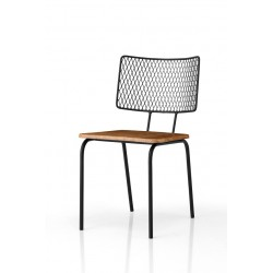 Brooklyn Metal Chair - Wood Seating