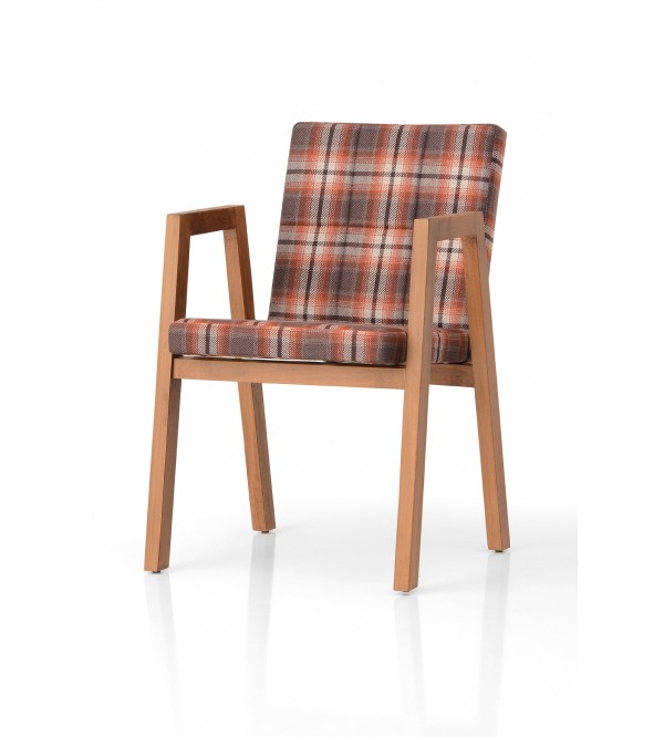 Madrid Wood Armchair (Wood Arms)